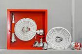 Fire hose equipment — Stock Photo