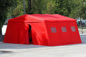 Emergency tent — Stock Photo