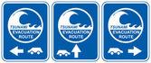 Tsunami evacuation vehicles — Stock Photo