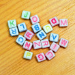 Stock Photo: Alphabet dices