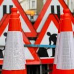Road cones — Stock Photo