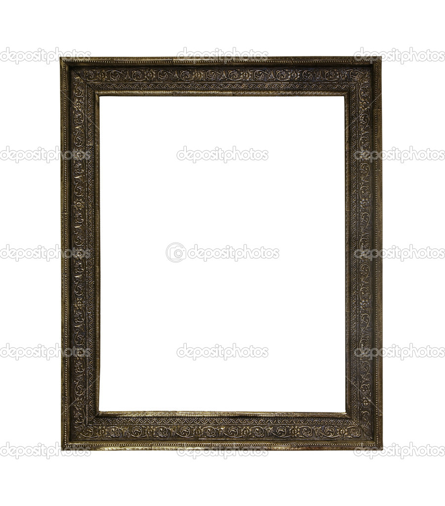 Antique old frame isolated with clipping path included — Stock Photo #5650942