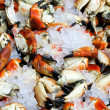 Crabs at ice — Stock Photo