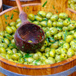 Olives bucket — Stock Photo