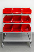 Supply trolley — Stock Photo