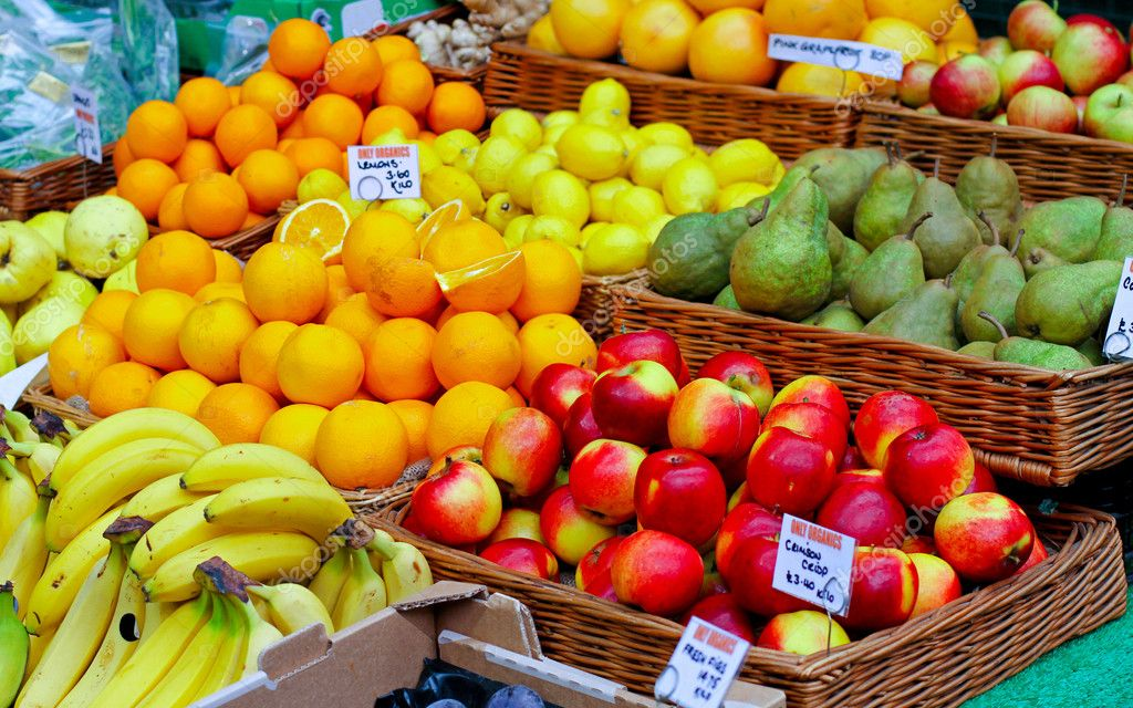 Big assortment of fresh organically grown fruits — Stock Photo #5772672