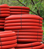 Red coils — Stock Photo