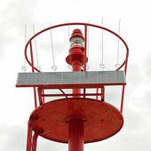 Solar powered lighthouse — Stock Photo
