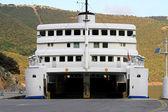 Open ferry boat — Stock Photo