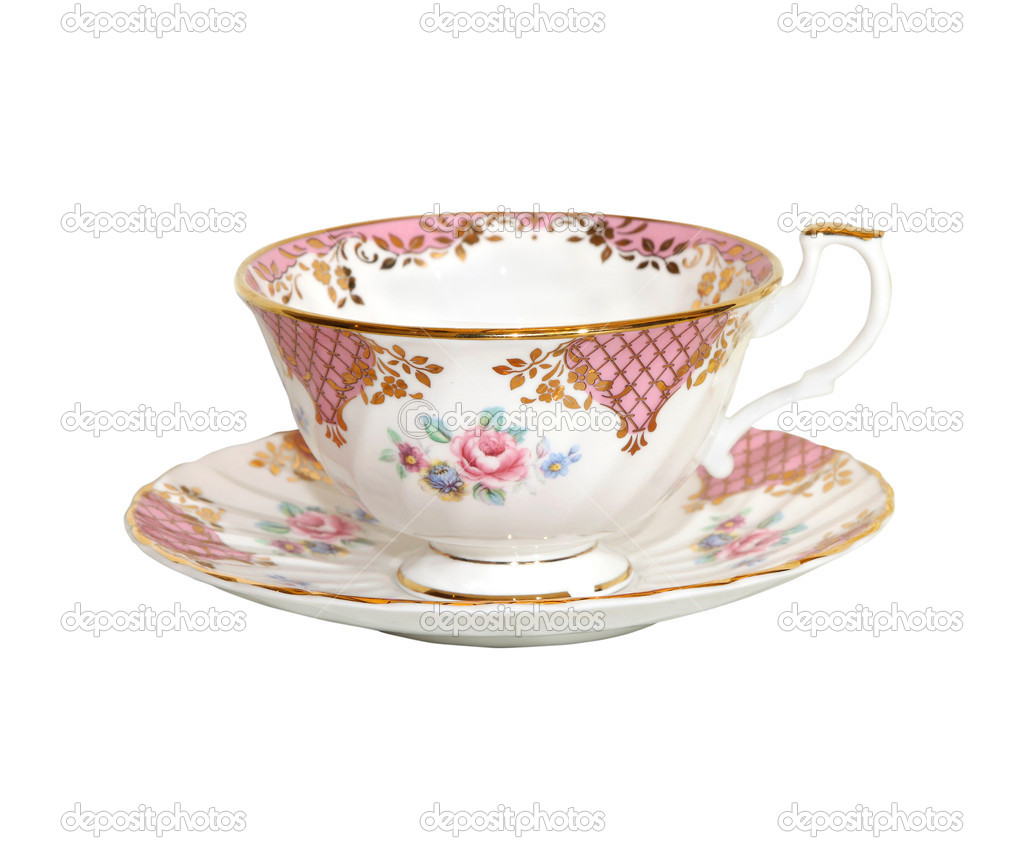 Traditional porcelain teacup isolated with clipping path included — Stock Photo #6019554