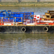 Barge at Thames — Stock Photo