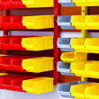 Color wall shelves — Stock Photo #6350155