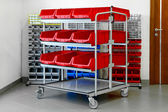 Inventory shelves — Stock Photo