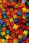 Colour dices — Stock Photo