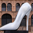 Giant stiletto shoe — Stock Photo
