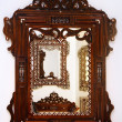 Handcrafted wooden frame — Stock Photo