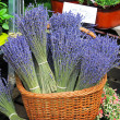 Lavander basket — Stock Photo
