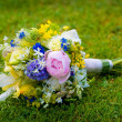 Stock Photo: Wedding bouquet with wild flowers