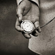 Old watch in the hands. — Stock Photo