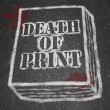 Death of Print - Chalk Outline of Book - Zdjęcie stockowe