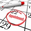 Calendar - Appointment Day Circled for Reminder — 图库照片
