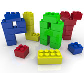 Play - Creative and Imaginative Learning with Building Blocks — Stock Photo