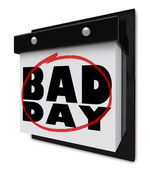 Bad Day - Disappointment and Dread Wall Calendar — Stock Photo