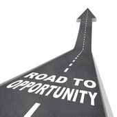 Road to Opportunity - Travel to Success and Growth — Stock Photo