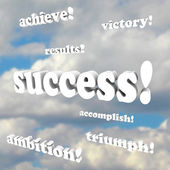 Success Words - Victory, Ambition, Accomplish, Triumph — Stock Photo