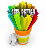 Feel Better - Prescription Medicine Beats Sickness — Stock Photo