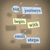 Big Journeys Begin With Small Steps — Stock Photo
