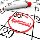 Calendar - Appointment Day Circled for Reminder — Foto de Stock