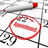 Calendário - dia nomeação dentro de um círculo para lembrete — Foto Stock