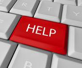 Help Key on Computer Keyboard — Stock Photo
