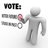 Vote for Better Future - Election for Change — Stock Photo