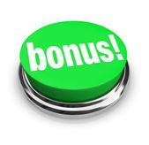 Bonus Word on Green Button - Added Extra Value — Stock Photo
