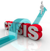 Crisis - Overcoming an Emergency with Disaster Plan — Stock Photo