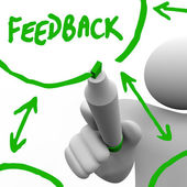 Feedback - Recording Input from Others for Improvement — Stock Photo