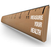 Ruler - Measure Your Health — Zdjęcie stockowe