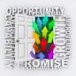 Opportunities Door - Unlock Your Potential for Growth — Zdjęcie stockowe