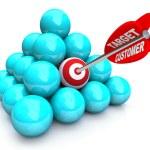 Targeted Customer in Marketing Pyramid — Stock Photo