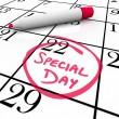 Royalty-Free Stock Photo: Calendar - Special Day Circled for Anticipated Date