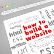 How to Build a Website - Web Screen - Zdjęcie stockowe