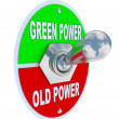 Stock Photo: Green vs. Old Power - Energy Toggle Switch