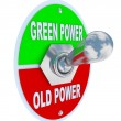 Green vs. Old Power - Energy Toggle Switch — Stock Photo
