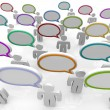 Large Group of Talking - Speech Bubbles - ストック写真