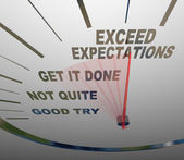 Speedometer - Exceeding Expectations of Your Customers — Stock Photo