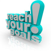 Reach Your Goals - 3D Words Encourage You to Succeed — Stock Photo