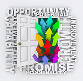 Opportunities Door - Unlock Your Potential for Growth — 图库照片
