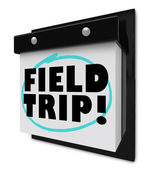 Field Trip Words Circled - School Outing — 图库照片